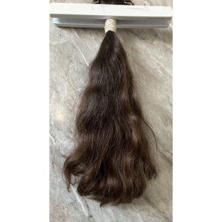 VIRGIN HAIR BULK, DARK BROWN/CHOCOLATE COL, 111gr, 17