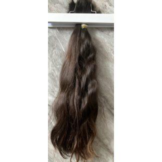 VIRGIN HAIR BULK, CHESTNUT BROWN, 200gr, 20