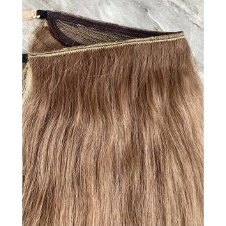 PRE COLOURED HAIR MADE INTO HALO EXTENSION, 86gr, 22