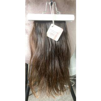 VIRGIN HAIR MADE INTO HALO EXTENSION, MEDIUM BROWN, 75gr, 15